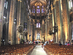 Inside Bourges Cathedral