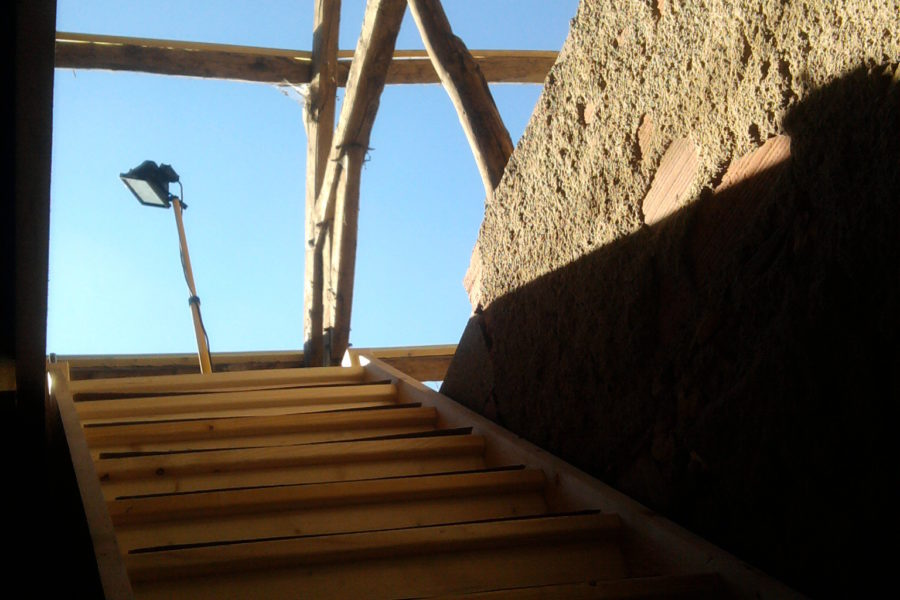 Staircase going in made things easier