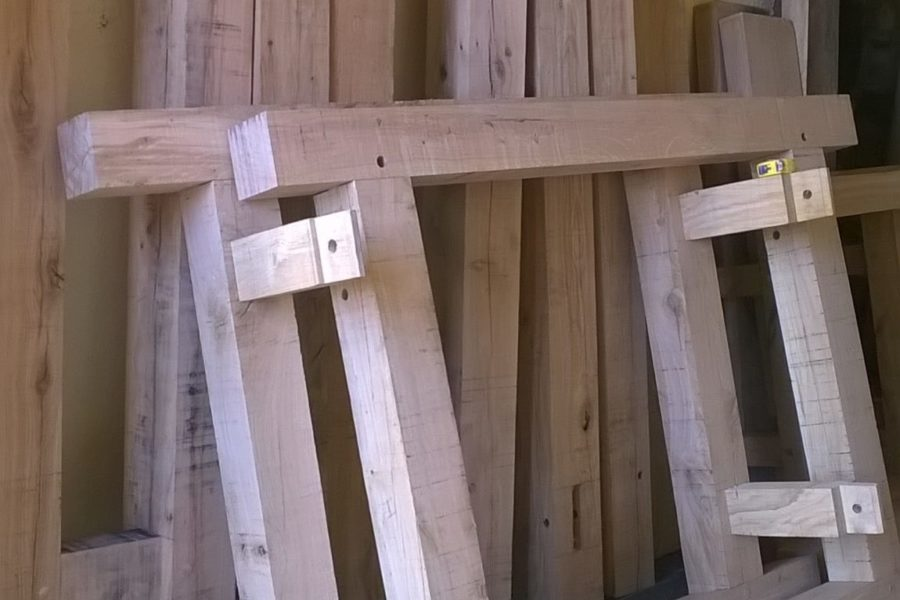 Locally sourced French Oak doors and window frames